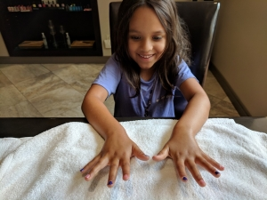 Mommy and me manicure