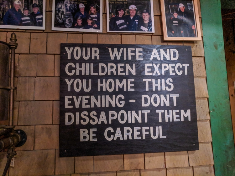 Sign at Glace Bay Miners Museum