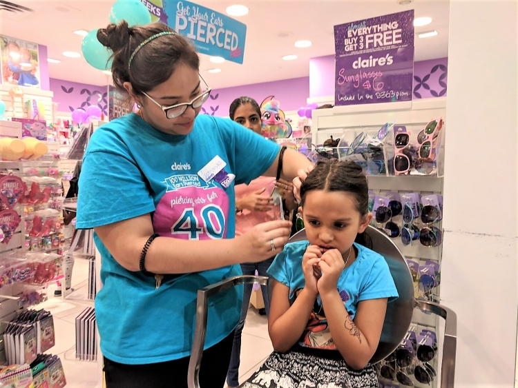 piercing daughter's ears Claires review