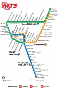 San Diego Trolley Map MTS