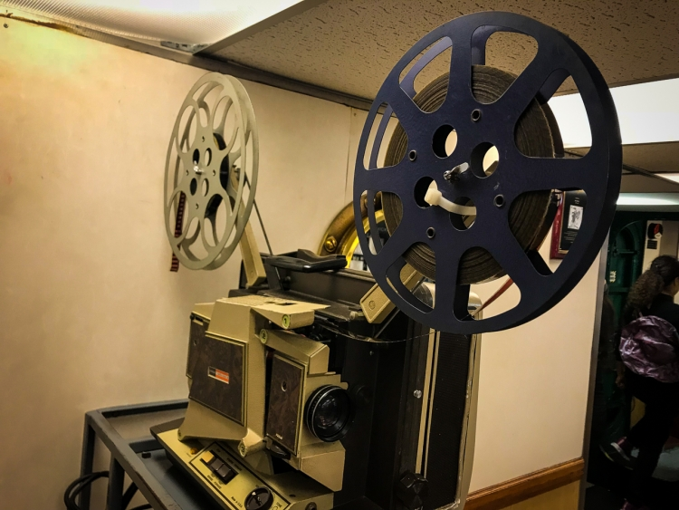 USS Midway Movie Projector