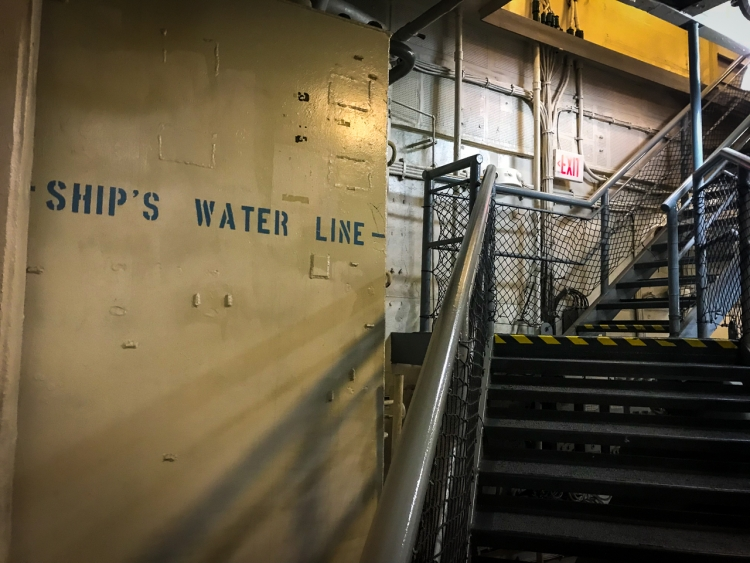Water Line USS Midway