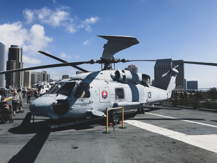 Helicopter USS Midway