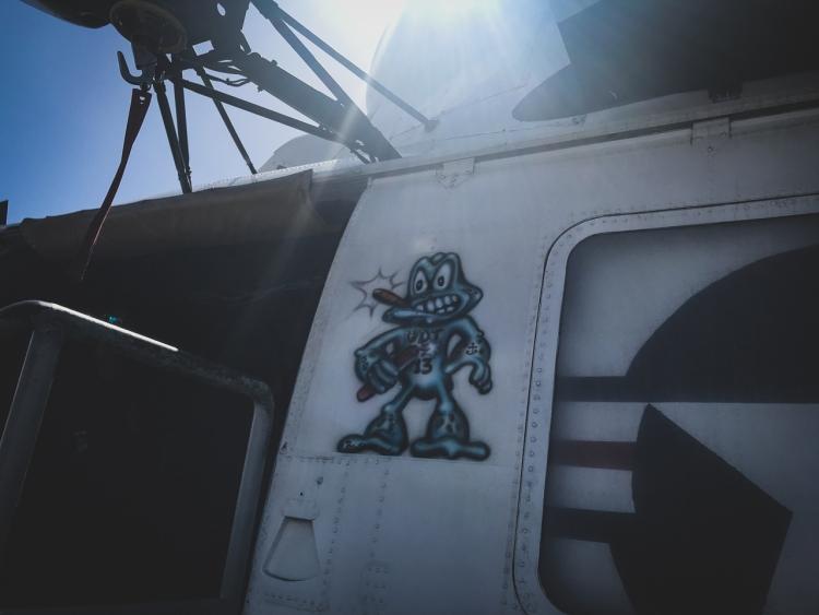 Frog Smoking Cigar USS Midway