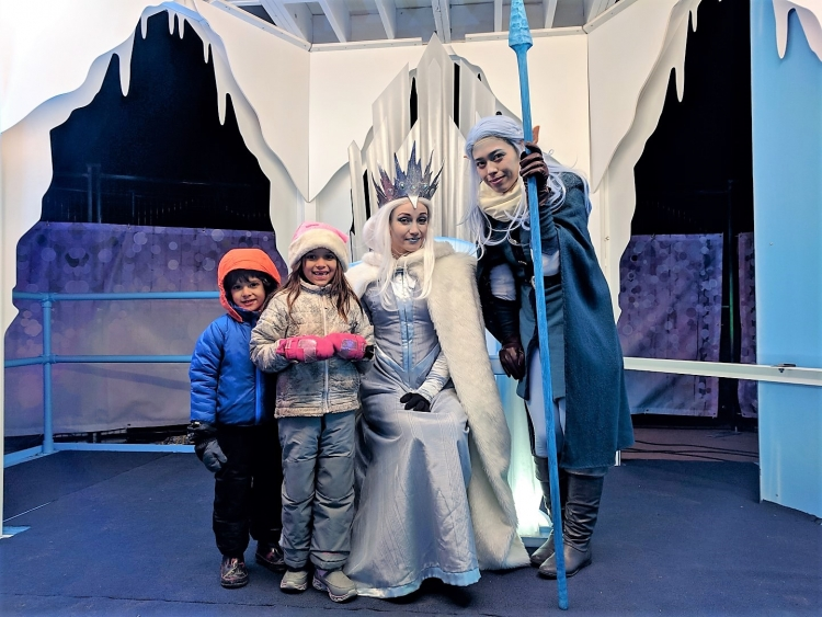 review of Aurora winter festival Toronto with kids