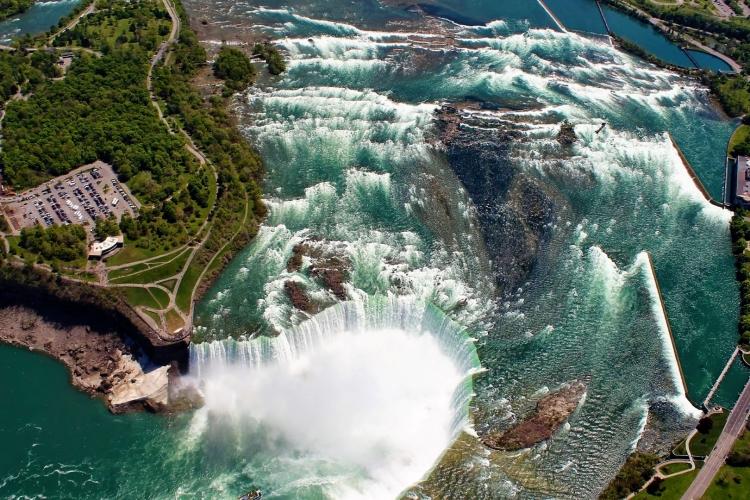 Niagara falls helicopter views