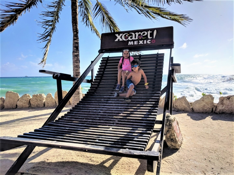 Xcaret park with young kids
