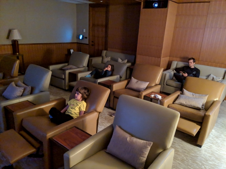 best chicago hotel for families cinema room