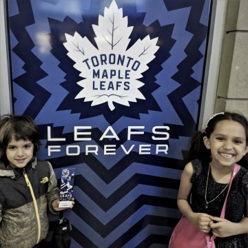 babies at maple leafs scotiabank
