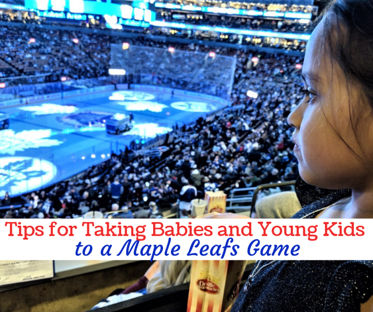 tips for taking young kids and babies to a Maple Leafs game at Scotiabank