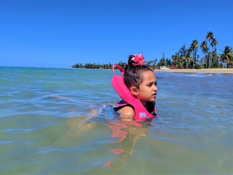 Luquillo with kids