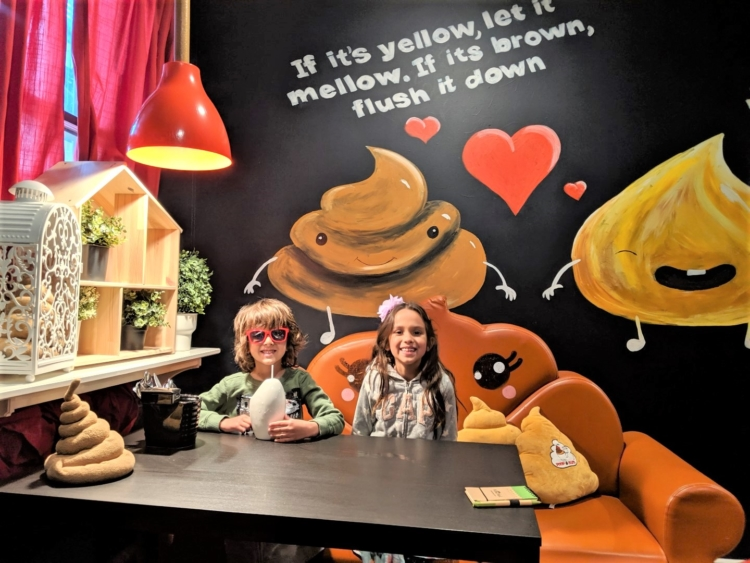 poop cafe things to do with kids in Toronto