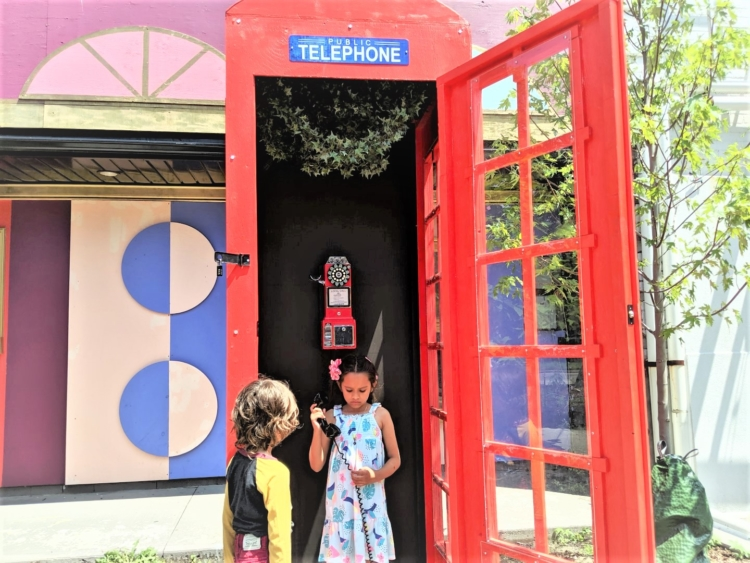 phone booth at funhouse toronto