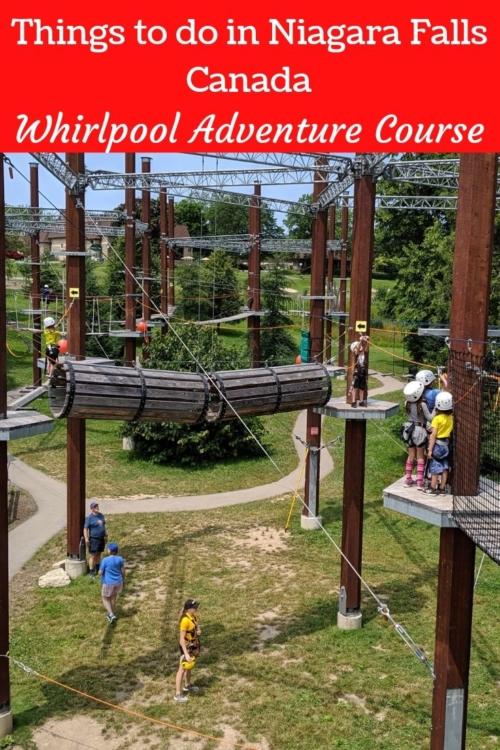 Nigara Falls Adventure Course. Things to do in Niagara Falls Canada