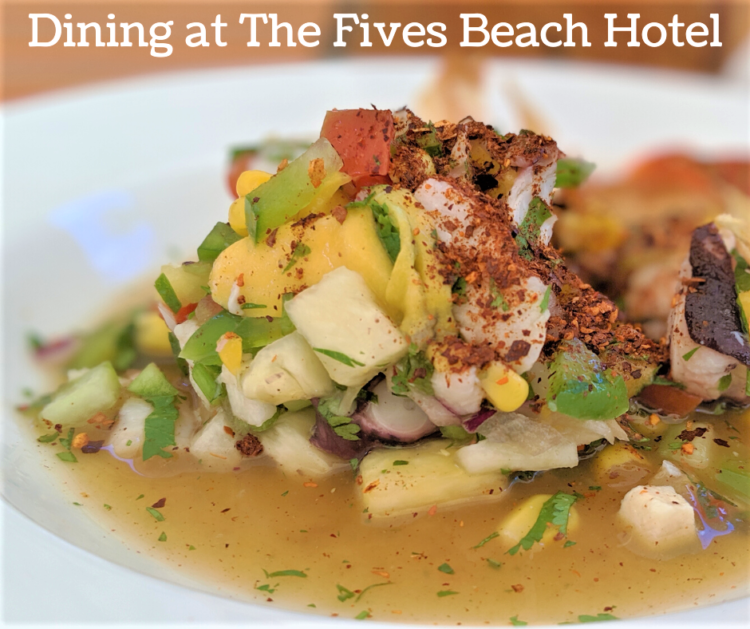 what to eat at the fives beach hotel mexico