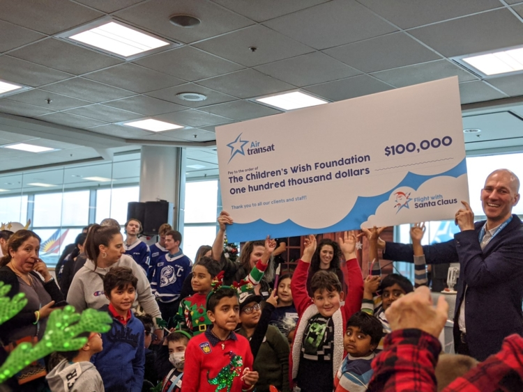air transat foundation santa flight