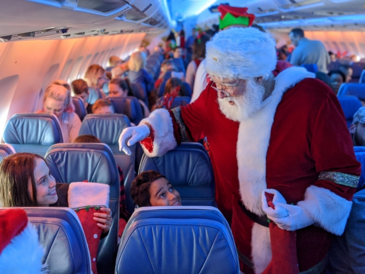 air transat santa flight