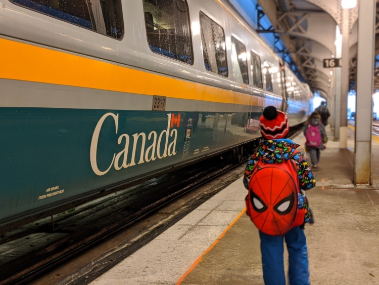 via rail with kids to montreal