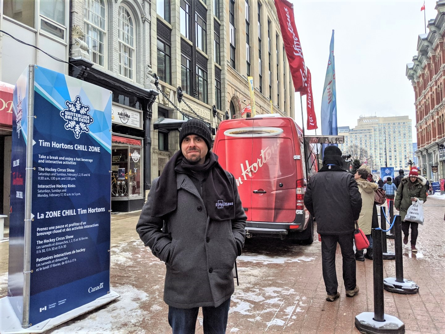 Warming stations at Sparks Street Winterlude