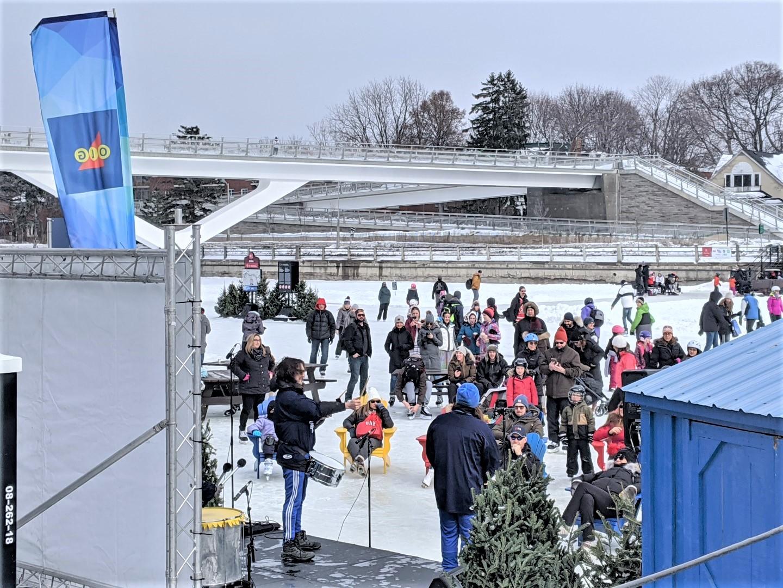Skating on canal Ottawa kids