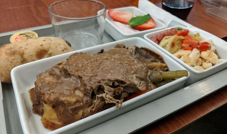 Food onboard Via Rail Business Class