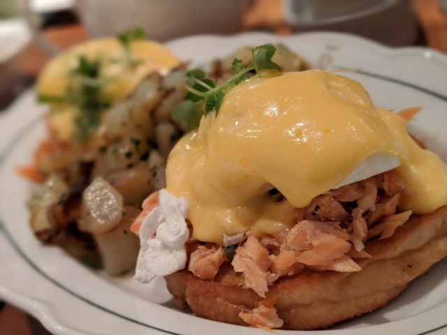Eggs Benny With Smoked Trout REIGN