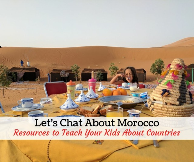 teaching kids about Morocco
