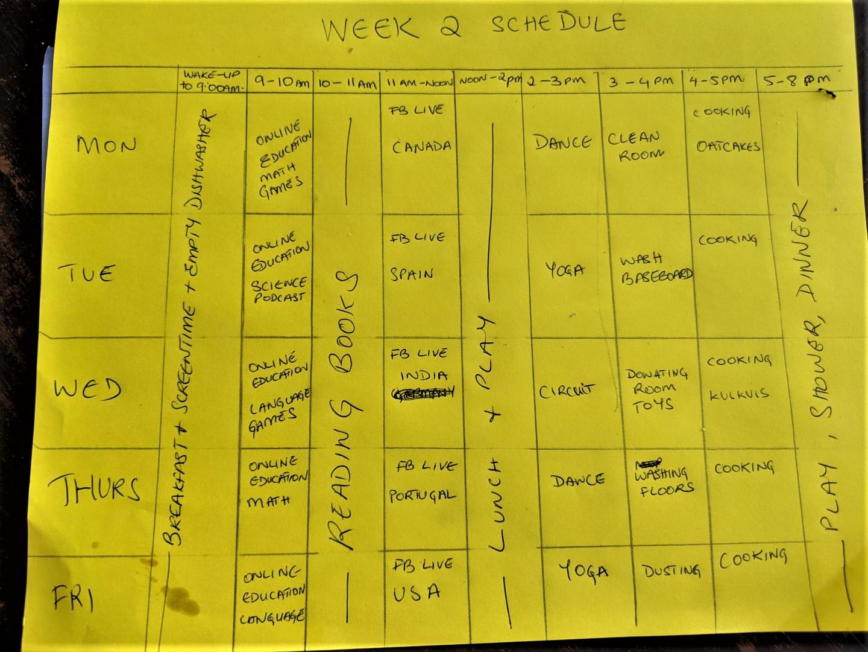 homeschooling schedule for condo kids