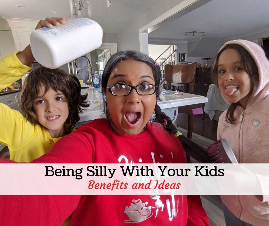 Being silly with kids