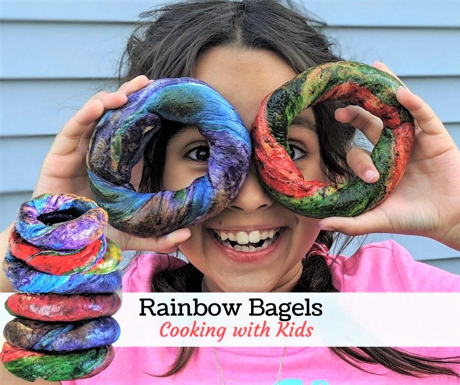 Easy Rainbow Bagel Recipe
