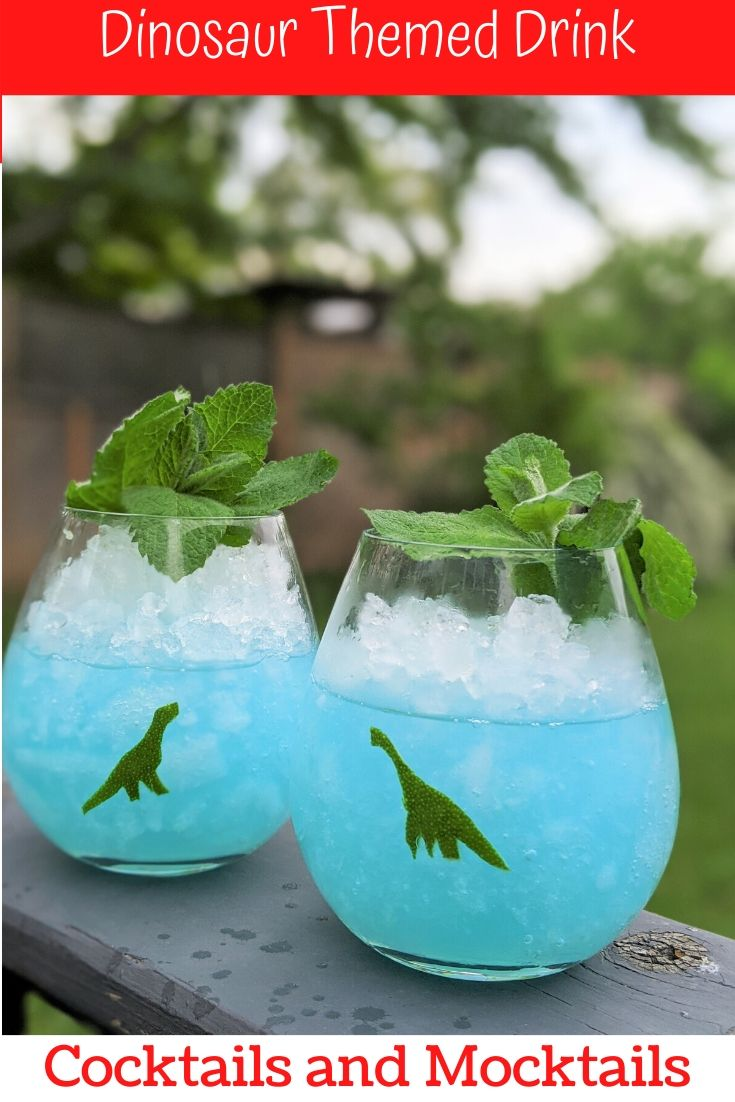 Dinosaur drinks. Dino Cocktails and Mocktails