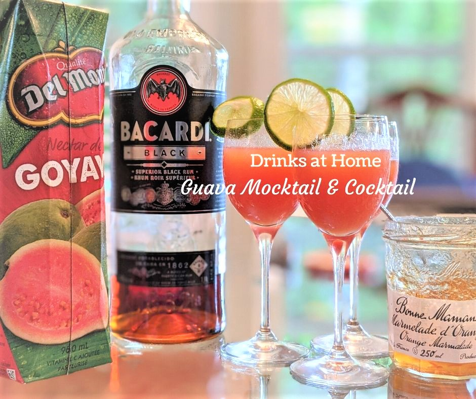 Guava drinks mocktail and cocktail