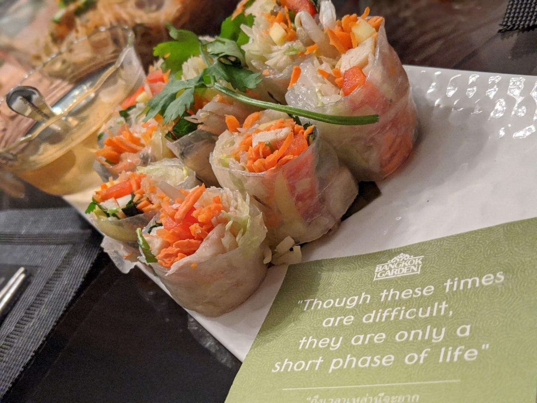 Spring rolls take out menu Bangkok Garden Toronto