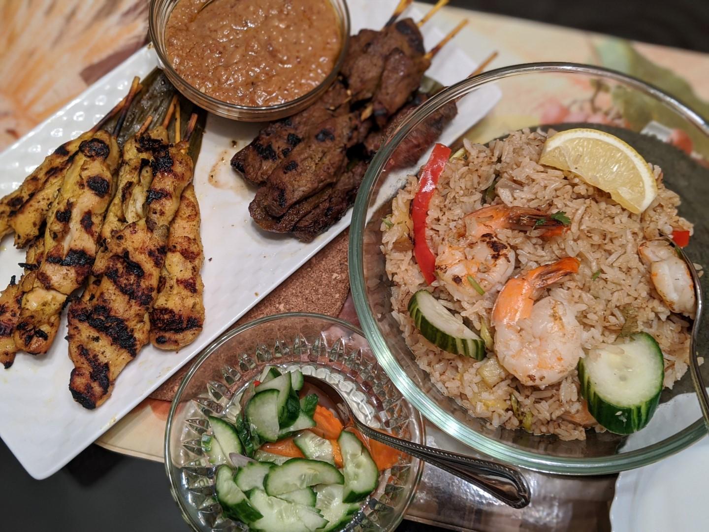 Satay take out menu Bangkok Garden Toronto