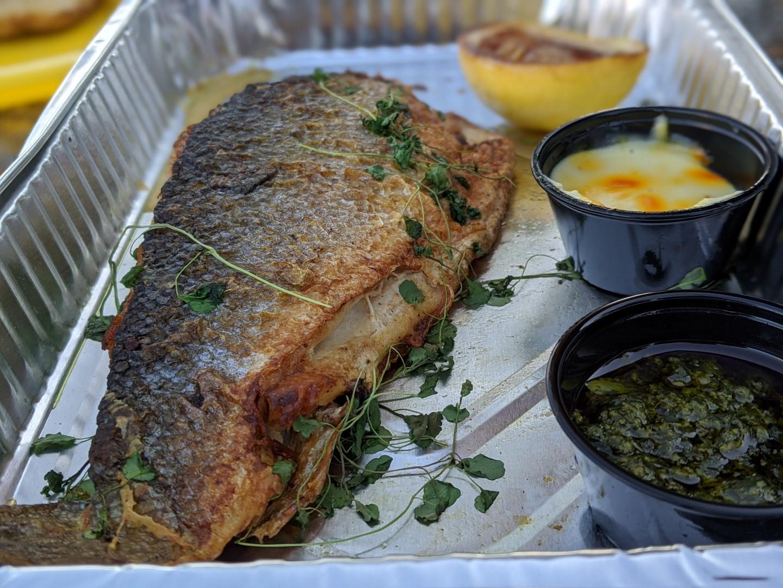 Grilled Branzino from Byblos Toronto