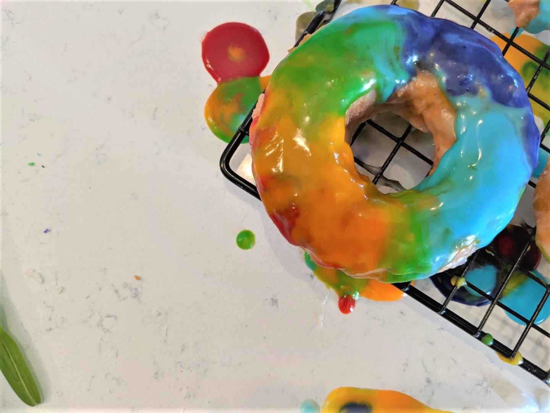 rainbow doughnuts at home