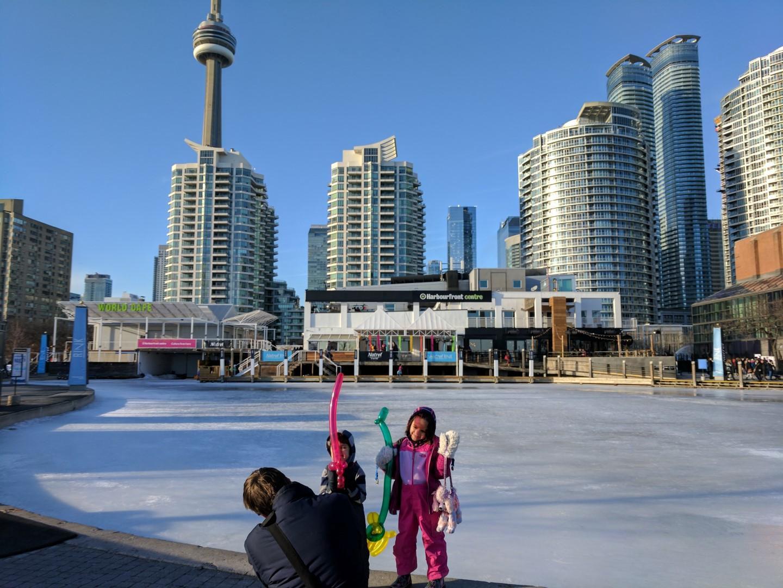 kids on waterfront Toronto rink