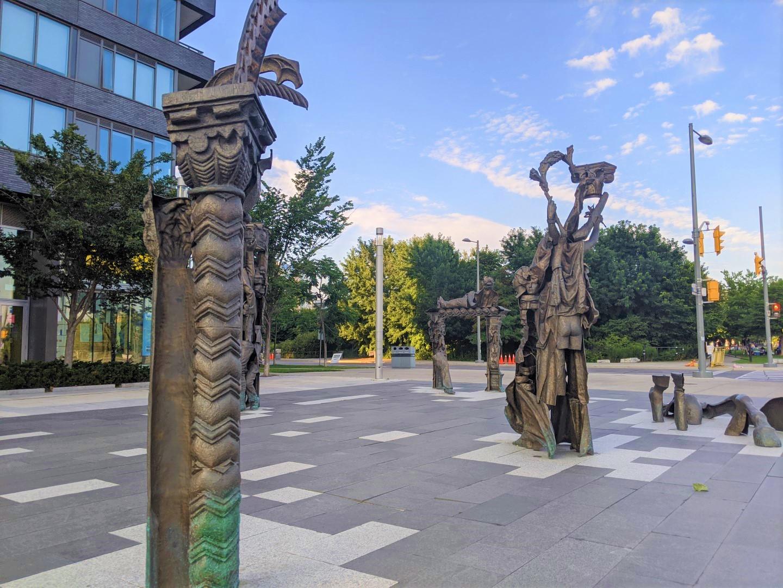 Statues at Corktown Common Toronto
