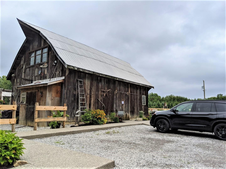 honda parked at barn brewery Norfolk