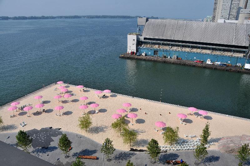 Aeril view of Sugar beach Toronto