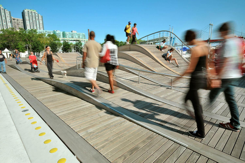 Wave deck bridge Toronto Waterfront