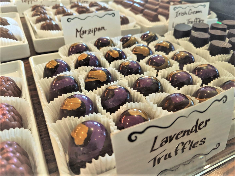 lavender chocolate truffles