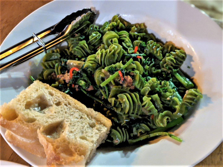 pasta plate for dinner