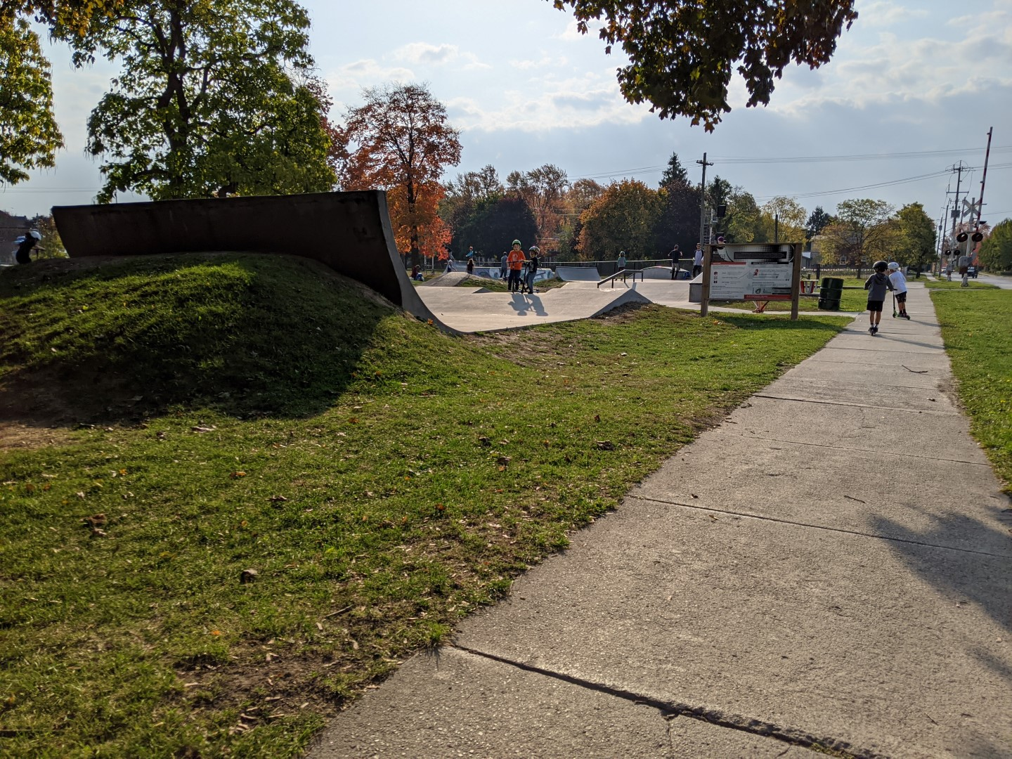 skate park in Ontario with kids