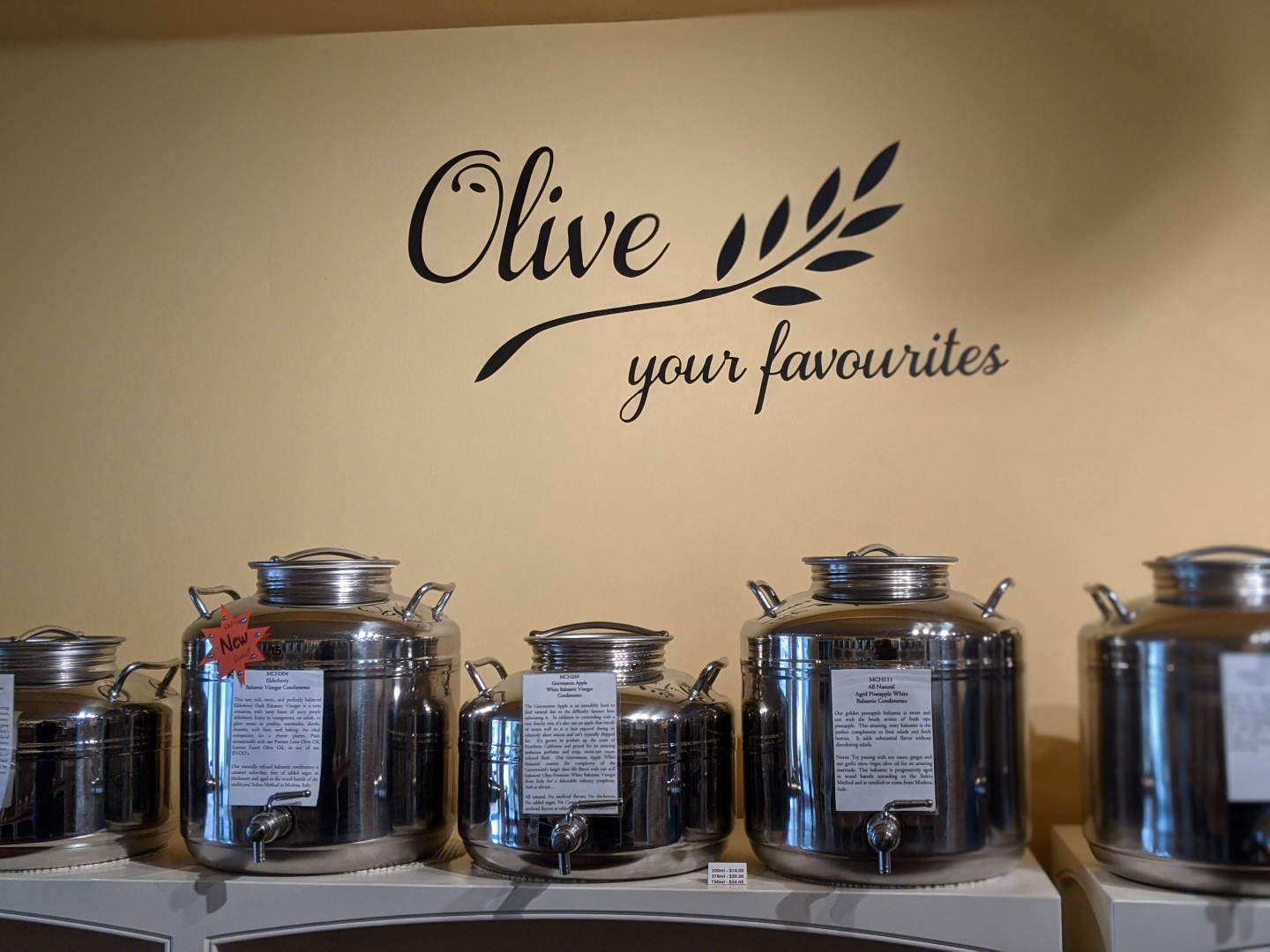 olive cans in Stratford ontario