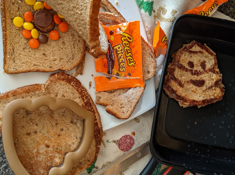 Poop emoji party theme sandwich