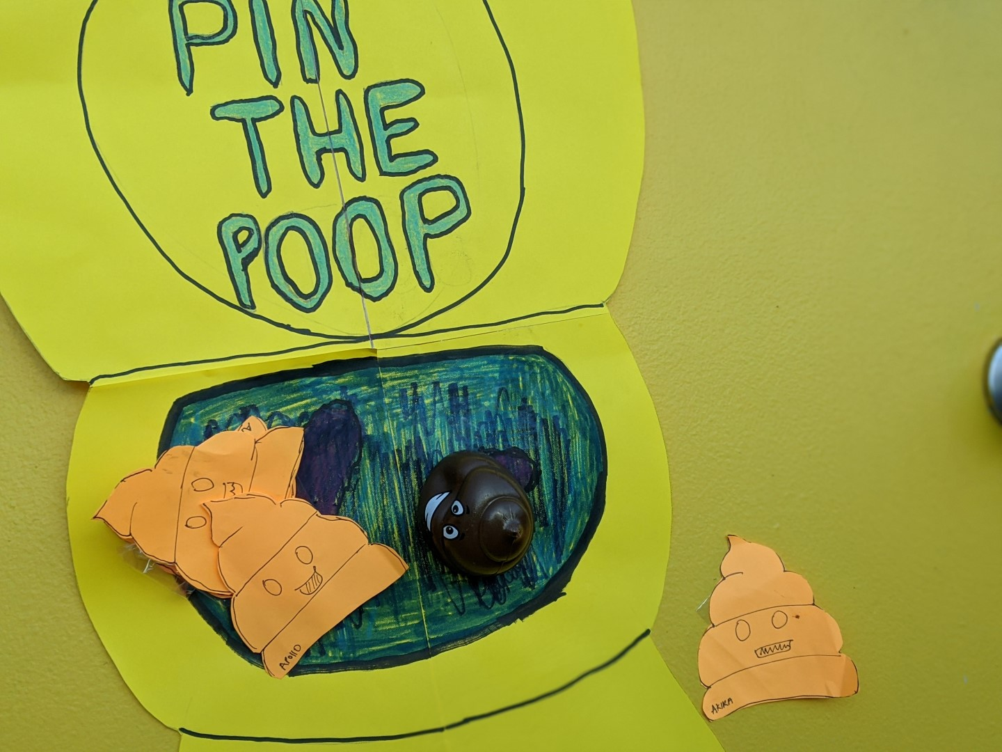 pin the poop party game