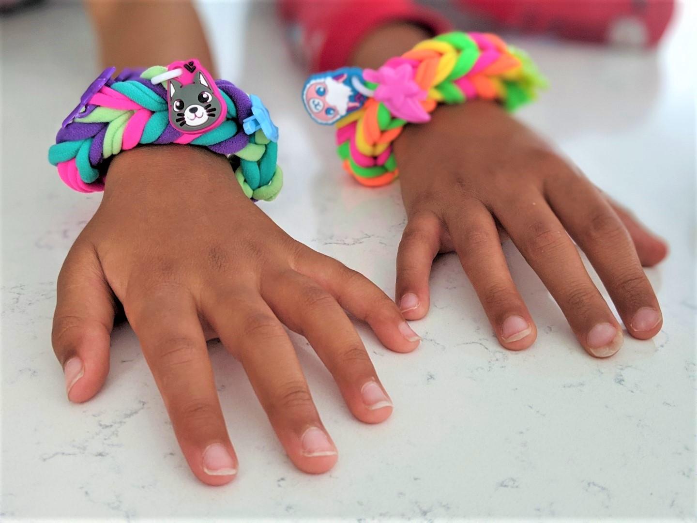 Lotsa loops bracelets on kids hands