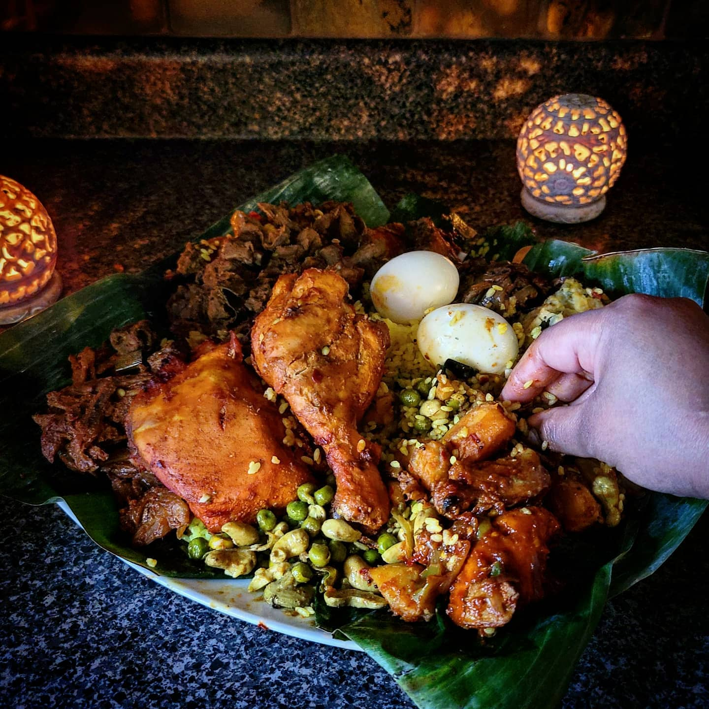 Eating Sri Lankan Rice and Curry with Hands