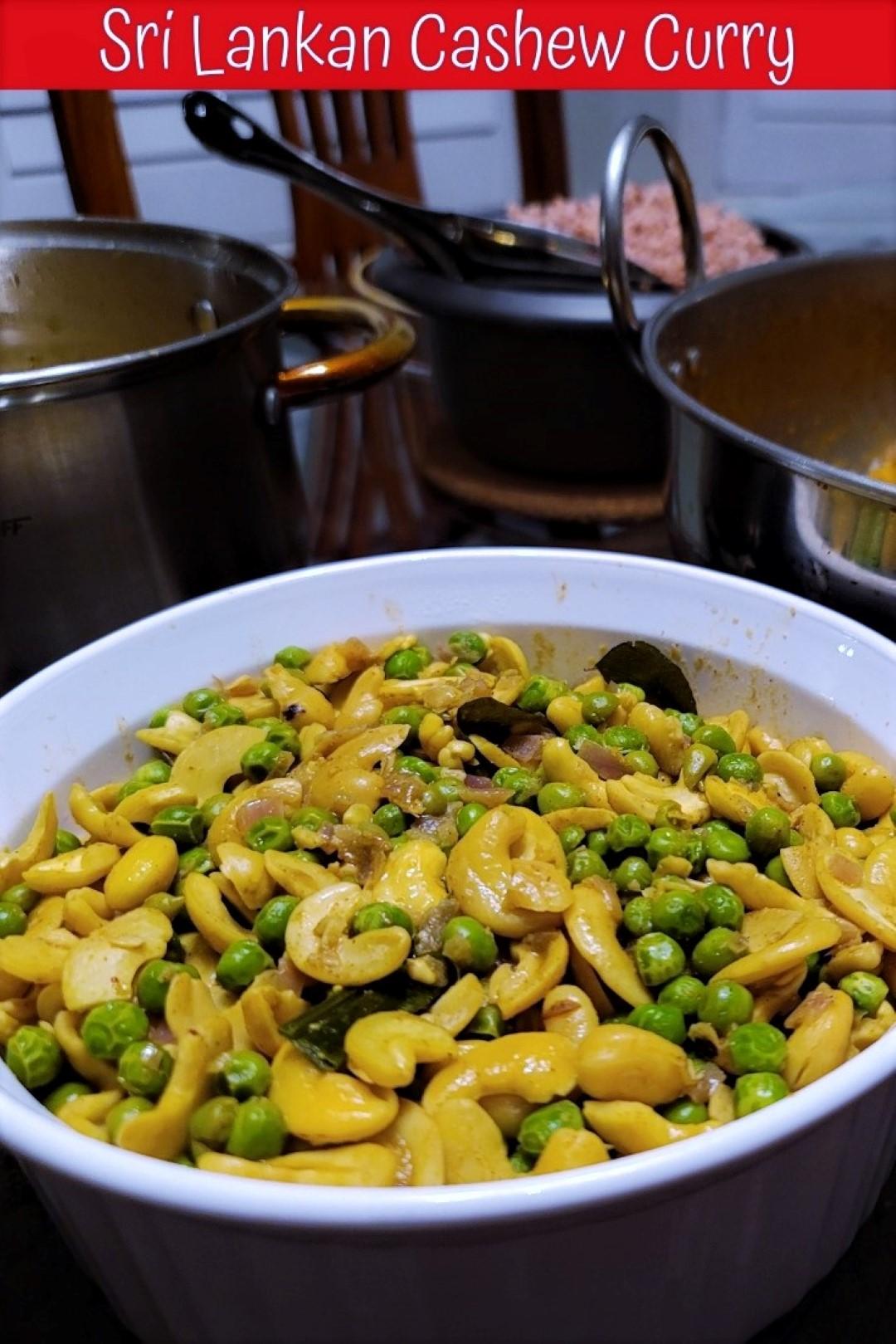 Sri Lankan Cashew Curry from mom